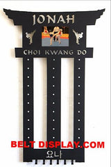 Taekwondo Belt Display: Karate Belt Rack: Martial Arts Belt Holder
