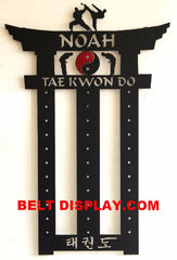 Tae Kwon Do Belt Display Rack: Personalized Martial Arts Belt Rack: Martial Arts Belt Holder