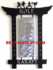 Karate Belt Display: Personalized Martial Arts Belt Holder: Martial Arts Belt Display