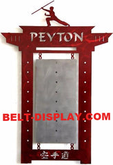Martial Arts Belt Holder: Tae Kwon Do  & Karate Belt Display Rack: