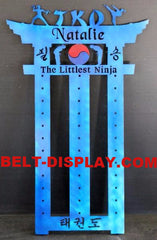 Martial Arts Belt Display: Karate Belt Rack: Tae Kwon do Belt Rack