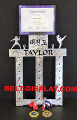 Martial Arts Certificate  & Belt Display Rack 6 Level Belt Holder