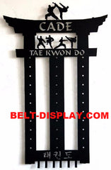 Martial Arts Belt Display: Tae Kwon Do Belt Display Rack: Karate Belt Holder