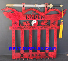 Martial Arts Belt Rack / Personalized sword display