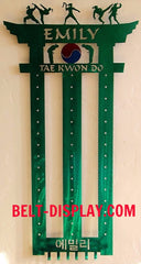 Karate Belts Display: Taekwondo Belts Holder Rack: Martial Arts Belts Rack