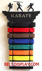 Personalized Karate Belt  Display: Tae kwon do Belt-Display-Rack: Martial Arts Belt Holder