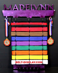 Personalized Ranking Belt and Medal Dsiplay