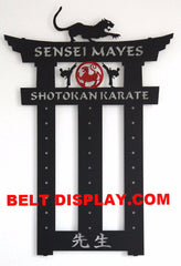 Shotokan Karate Belt Holder: Taekwondo Belt Display Rack: Martial Arts Belt Rack