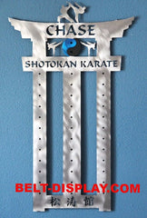 Karate Belt Display: 12 Level Karate Belt Holder