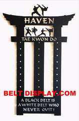 Martial Arts: Karate: Taekwondo: Belt Display Racks: Martial Arts Belt Holder Displays