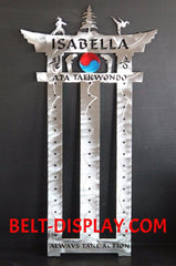 Songahm Taekwondo Belt Level Display: Martial Arts Belt Rack: ATA Belt Level Display