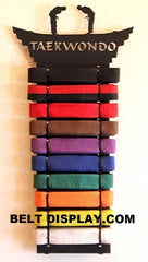10 Level Belt Display: Karate Belt Level Display Rack: Martial Arts Belt Holder