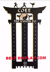 Taekwondo Belt Display: Karate Belt Display: Martial Arts Belt Holder
