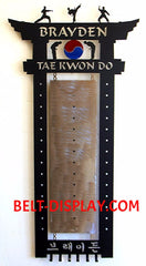 Martial Arts Belt Wall Display: Karate Belt Holder Personalized: Taekwondo Belt Rack