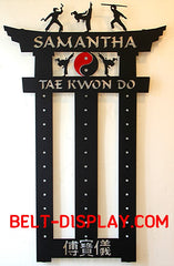 Taekwondo Belt Display | Karate Belt Display | Martial Arts Belt Holder | Personalized