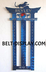 Tae kwon do Belt Holder : Martial Arts Belt Rack: Personalized Karate Belt Display