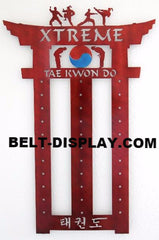 Dojo Martial Arts Belt Display: Taekwondo Belt Rack: Martial Arts Belt Rack