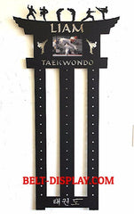 Taekwondo Belt Display: Personalized Karate Belt Level Display Rack: Martial Arts Belt Holder