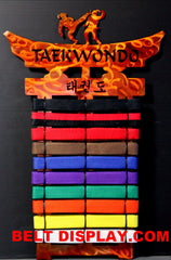Taekwondo  Belt  Display  10 -17  Level  Holder