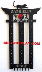 Tae Kwon Do Belt Display Rack: Martial Arts Belt Rack: Karate Belt Display