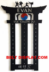 Martial Arts Belt Holder: Taekwondo Belt Display: Karate Belt Rack