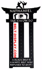 TKD Martial Arts Belt Display: Karate Belt Rack: Tae Kwon do Belt Rack : Karate Belt holder