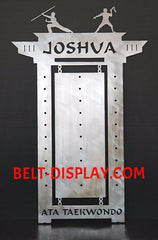 Tae kwon do Belt Display: Martial Arts Belt Rack: Personalized Karate Belt Display