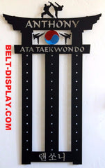 ATA Taekwondo: Taekwondo belt display: Taekwondo belt rack