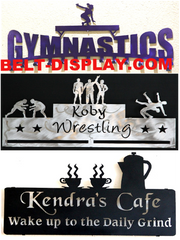"Personalized Home Decor: Custom Medal Holders and Trophy Shelves - <a href=""http://www.medal-display.com"" target=""blank"">customcut4you.com</a>"