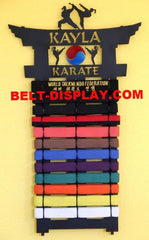 Karate Belt Display | 12 Level Karate Belt Holder | Custom Personalized Belt Rack
