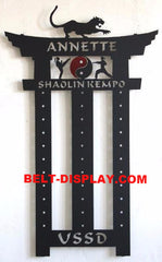 Kempo Karate Belt Display: Martial Arts Belt Rack Holder: Tae Kwon do Belt  Display