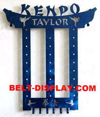 Kenpo Karate Belt Display: Martial Arts Belt Rack Holder: Tae Kwon do Belt  Display