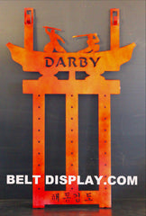 Custom Martial Arts Belt Holder: Martial Arts Belt Display Rack: Custom Belt Display