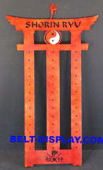 Martial Arts Belt Display / Shorin Ryu Belt Holder