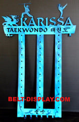 taekwondo belt display / personalized