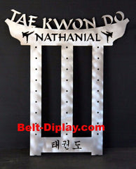ATA Tae Kwon Do  Belt Holder: 12 Belt Taekwondo belt rack