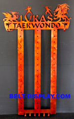 taekwondo belt display 12 level belt holder