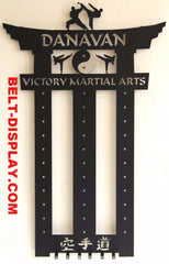 Martial Arts Belt Display / Personalized martial arts belt holder