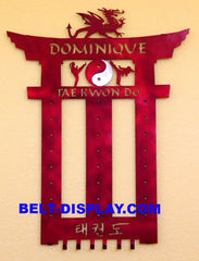 martial arts belt display personalized