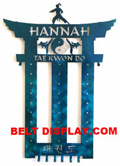 Tae Kwon Do Belt  Rack: TKD Belt Holder