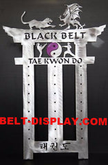 Karate Belt Display: Martial Arts Belt Rack Holder: Tae Kwon do Belt  Display