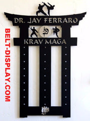 Krav Maga Belt Display Rack