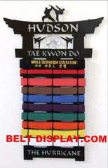 Martial Arts Belt Display: Tae Kwon Do Belt Display Rack : Karate Belt Level Holder