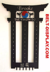 Martial Arts Belt Holder / Taekwondo Belt Display