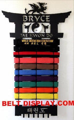 Tae kwon do Belt Display | Karate Belt Rack |Martial Arts Belt Holder| belt-display.com