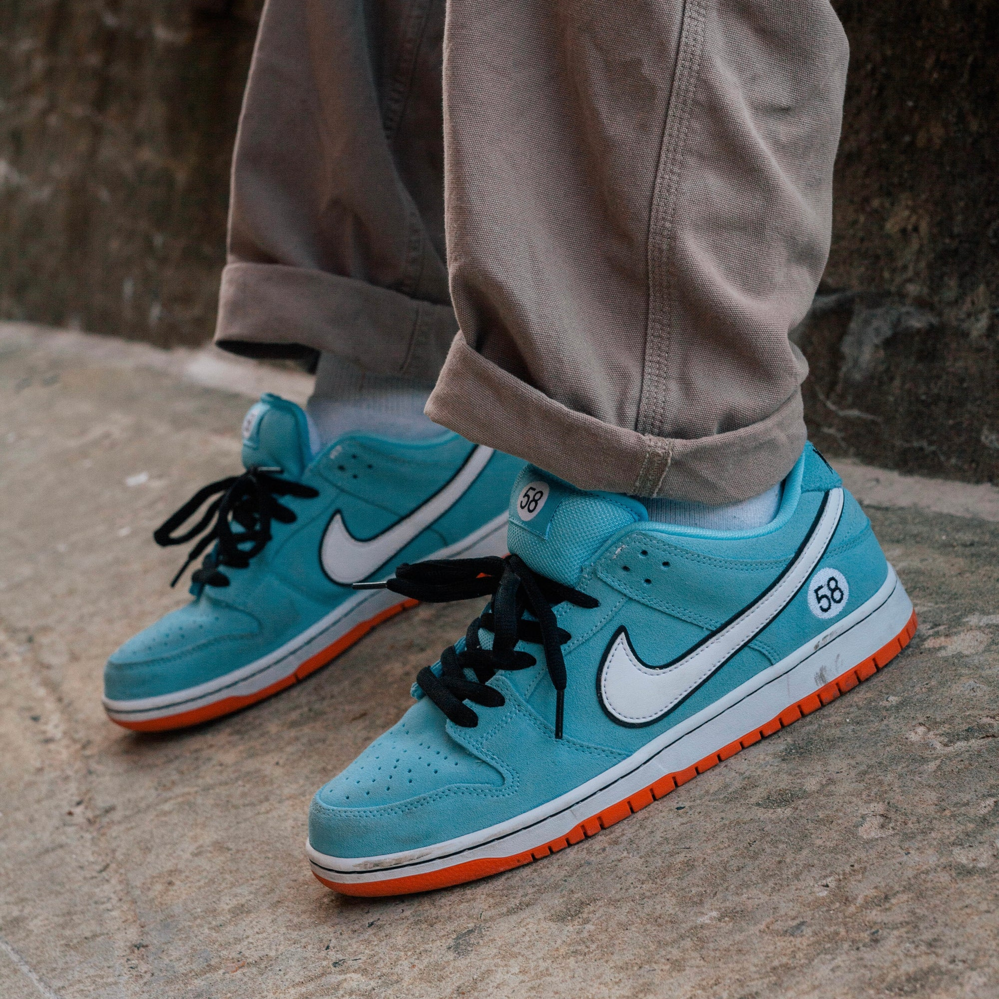 "Nike SB ""58 Gulf"" Orange Label Dunk Raffle"