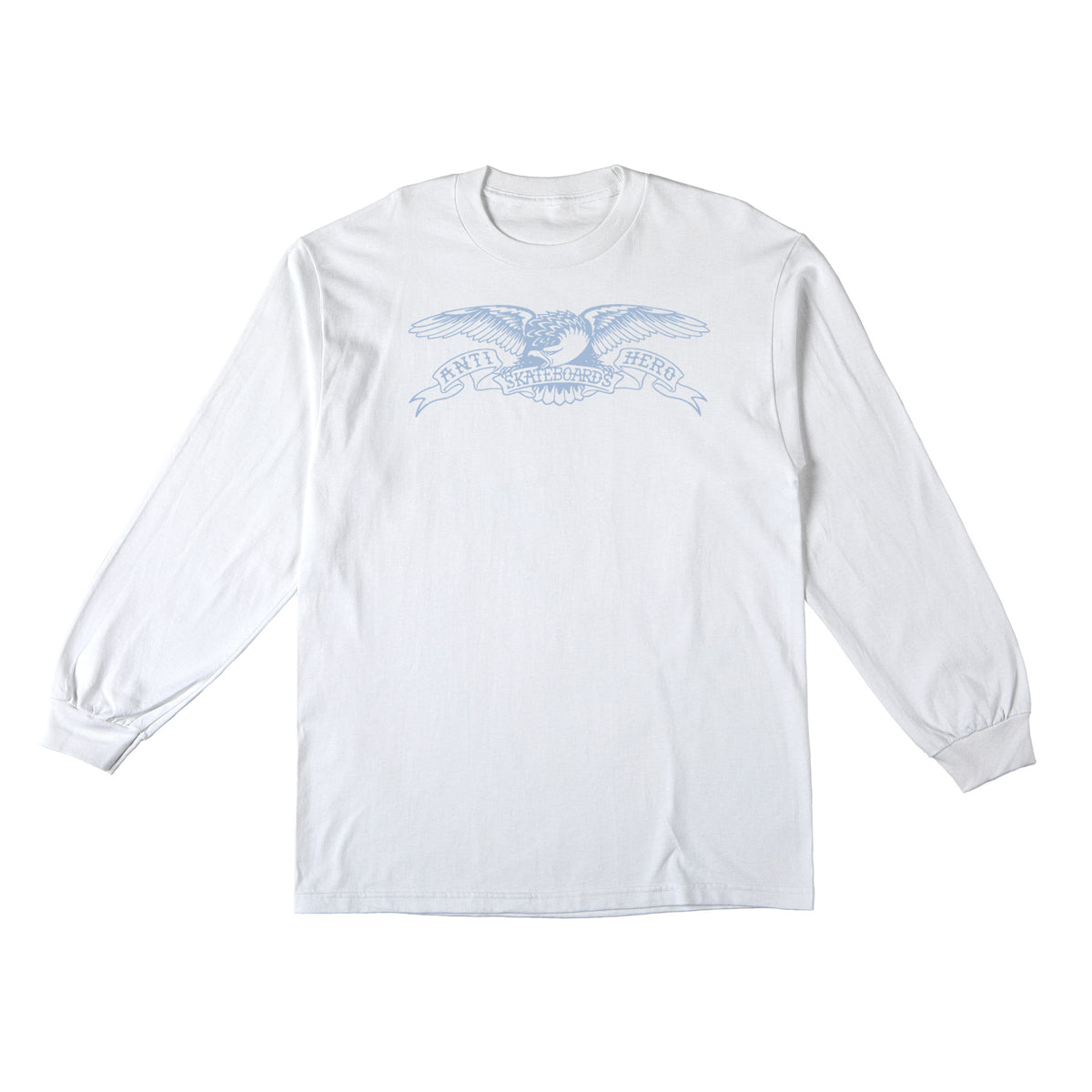 Anti-Hero Basic Eagle Long Sleeve White/Light Blue