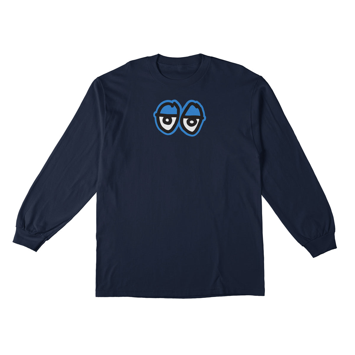 Krooked Eyes Large Long Sleeve Navy/White