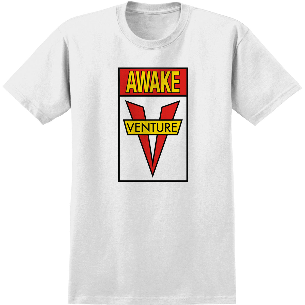 Venture Awake Tee White/Red/Yellow