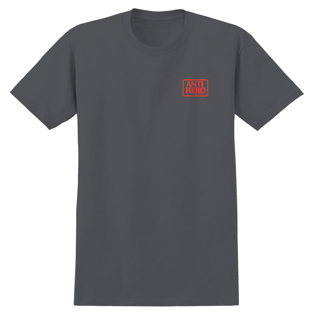 Anti Hero Reserve Tee Charcoal/Red
